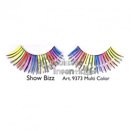 Pestañas Fantasía Stargirl  Multicolor Rainbow Kryolan