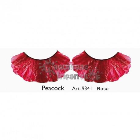 Pestañas Fantasía Peacock Rosa Kryolan