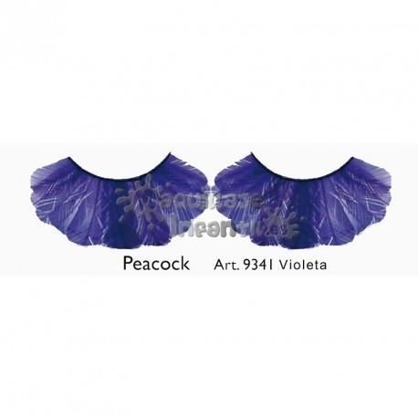 Pestañas Fantasía Peacock Violeta Kryolan